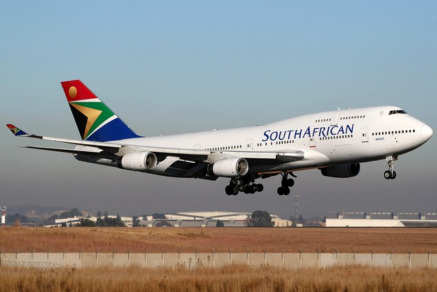 самолет South African Airways
